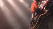 Stock Video Footage of Playing Electric Guitar On Stage, Close Up