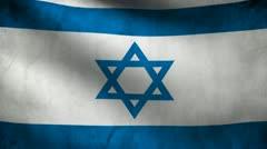 Israel flag. Stock Footage