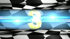 Countdown in Checker Flag 4 - HD1080 Stock Footage
