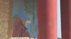Partial reconstruction, Palace of Knossos, Greek Island of Crete, Greece Stock Footage