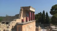 Stock Video Footage of Partial reconstruction, Palace of Knossos, Greek Island of Crete, Greece