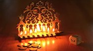 Stock Video Footage of Hanukkah jewish  holiday 02