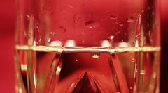 Glass of Champagne CloseUp tilt down - stock footage