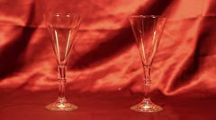 Pouring Champagne 02 Stock Footage