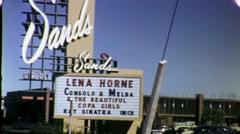 The Sands Hotel Sign CASINO Las Vegas Nevada 1960s Vintage Film Home Movie 1685 Stock Footage