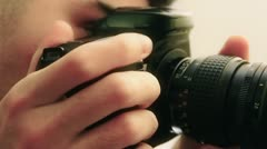 Photographer DSLR shooting Stock Footage