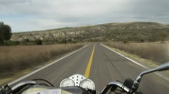 Riding Motorcycle in Sierra of Mexico Stock Footage
