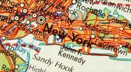 New York Map Zoom Stock Footage