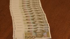 Kunas - croatian money Stock Footage