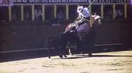 BULLFIGHT MATADOR BULL ARENA Fight 1970s (Vintage Film Home Movie) 1691 Stock Footage