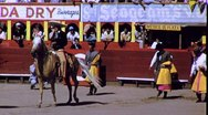Parade into Arena Mexican Bullfight 1960s (Vintage Film Home Movie) 1688 Stock Footage