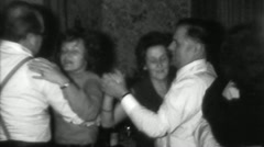 Living Room Waltz Family Party Social Dance 1 - Vintage Super8 Film Stock Footage