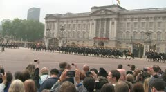 Household Cavalry procession for Prince William and Kate Middleton wedding Stock Footage