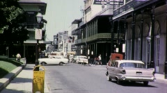 STREET SCENE New Orleans French Quarter 1960s Vintage Film Retro Home Movie 1695 Stock Footage