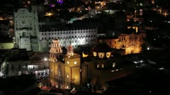 Guanajuato nightview - stock footage