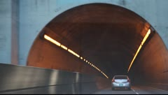Car in the tunnel Stock Footage