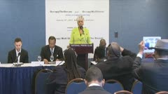 B-roll of news conference: Black clergy support Occupy Wall Street - stock footage