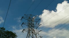 25p Electric Power Tower 2 Stock Footage