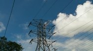 Stock Video Footage of Electric Power Tower 1