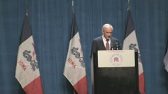 Stock Footage - Congressman Ron Paul intro at Ronald Reagan Dinner - IOWA Stock Footage