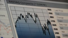 Stock graph NASDAQ composite - stock footage