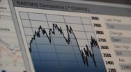 Stock Video Footage of Stock graph NASDAQ composite
