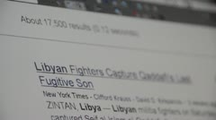 Google search results for Libya browser view Stock Footage