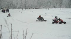 Winter carting - stock footage