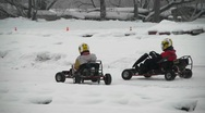 Winter carting Stock Footage