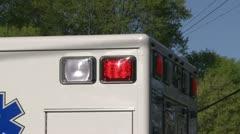 Flashing lights on an emergency vehicle - stock footage