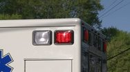 Stock Video Footage of Flashing lights on an emergency vehicle