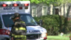 Emergency crews respond after an accident (8 of 8) Stock Footage