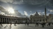 St Peter's Square in Vatican Stock Footage