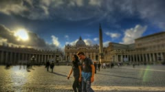 St Peter's Square in Vatican - stock footage
