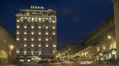Hotel bernini bristol Stock Footage