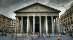 Pantheon in Rome - stock footage