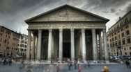 Pantheon in Rome Stock Footage