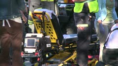 Stock Video Footage of Emergency crews respond after an accident (4 of 8)
