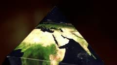 Earth in Dipyramid, closeup Stock Footage