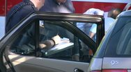 Stock Video Footage of Police fill out accident report