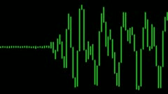 Electronic Digital Audio Wave Form Stock Footage