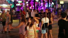 Prostitutes are waiting for costumer Stock Footage
