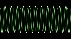 Electronic Wave form (loop) - stock footage