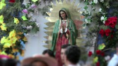 Virgin of Guadalupe - stock footage