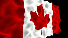 Canadian Flag - HD1080 Stock Footage