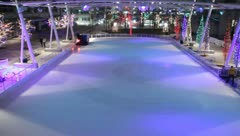 Ice Skating People and Zamboni 7 Stock Footage