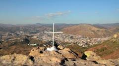 Sierra over Guanajuato - stock footage