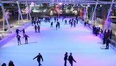 Ice Skating People and Zamboni 25 Stock Footage