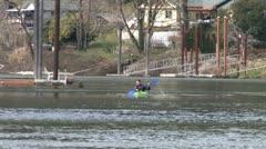 Man on Kayak 7 Stock Footage