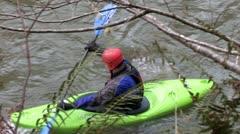 Man on Kayak 6 Stock Footage